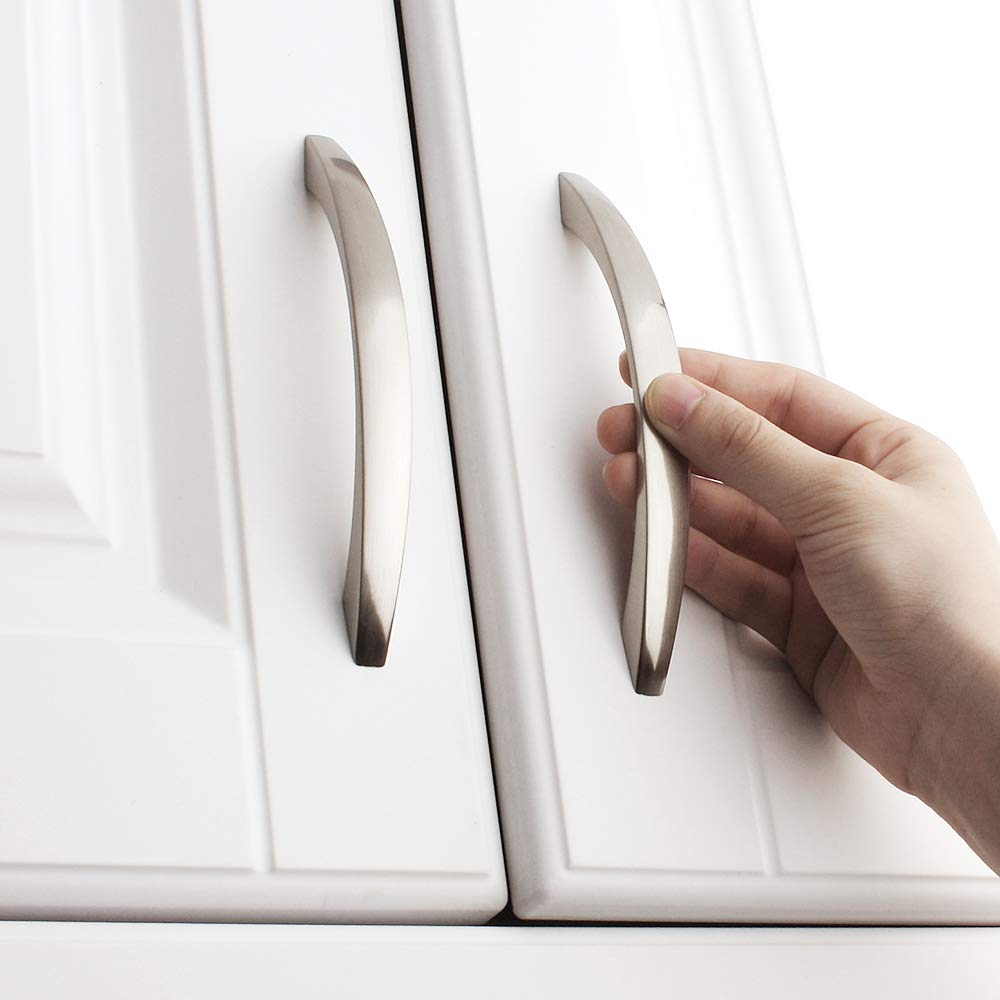 3.8 Inch//96mm Screw Spacing Koofizo/® Slim Cabinet Bow Pull Bedroom Dresser Drawer 10-Pack for Kitchen Cupboard Door Chrome Furniture Handle Bathroom Wardrobe Hardware