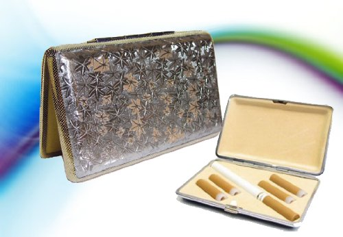 Electronic Cigarette Carry Case PLUS E-cig skin! Silver Leaf Limited Edition! (Best in Class! Fits e-cigs up to 4-1/4