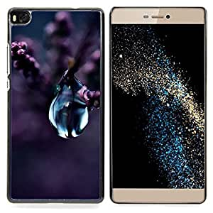 - Water Drop Nature Purple Plant Flower Blossom - - Snap-On Rugged Hard Cover Case Funny HouseFOR HUAWEI P8