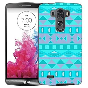 LG G3 Case, Slim Fit Snap On Cover by Trek Aztec Andes Tribal Tea Trans Case