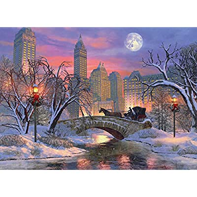 EuroGraphics Christmas Eve in New York City Puzzle (1000 Piece): Toys & Games
