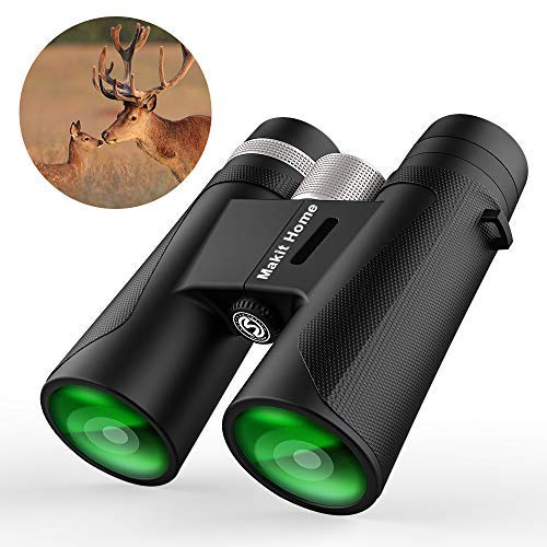 12x42 Powered Waterproof Compact Binoculars with Weak Light Night Vision Clear for Adults for Bird Watching Backyard Safari Great for Outdoor Sports Games Travel and Concerts Small Binocular [並行輸入品]   B07TJJ9JQG