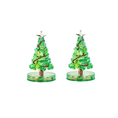Klions Crystal Growing Garden Kit – Grow Two Crystal Trees in Just 15 Hours with This Crystal Growing Kit for Kids, Home Science Learning Gift for Boys and Girls, Valentine's Day: Jewelry