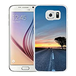 New Beautiful Custom Designed Cover Case For Samsung Galaxy S6 With Sunset Road (2) Phone Case