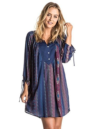 roxy-juniors-worlds-greatest-long-sleeve-dress-sayra-pristine-small
