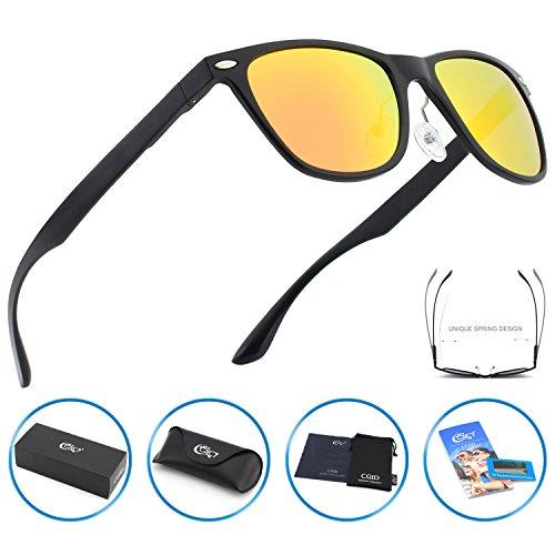 CGID GD54 Al-Mg Alloy Wayfarer Style Polarized Sunglasses UV400,Sun Glasses with Metal - Aviation For Sunglasses Best
