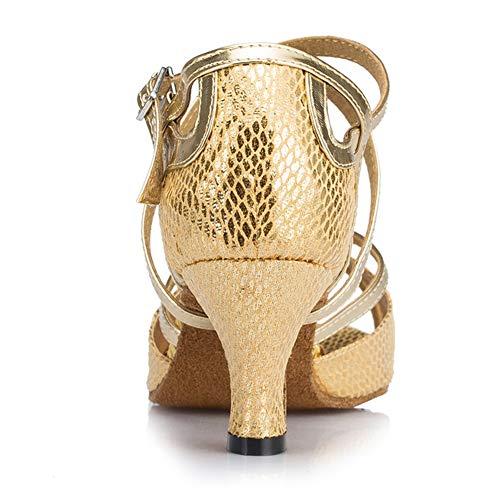 Boucle 12 Fj Leather Chaussures Jazz Blue De Ballroom Elobaby Femmes Samba Pratique Modern Danse Latin dance cUYW4q