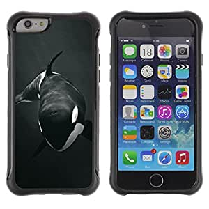 BullDog Case@ Orca Whale Willy Black White Minimalist Rugged Hybrid Armor Slim Protection Case Cover Shell For iphone 6 6S CASE Cover ,iphone 6 4.7 case,iphone 6 cover ,Cases for iphone 6S 4.7