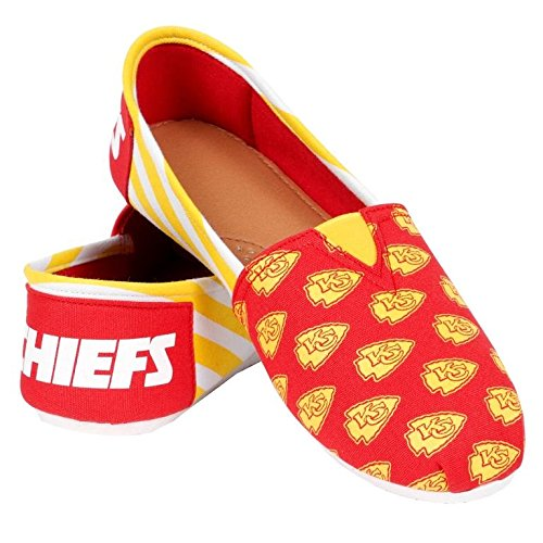 Summer Ladies Collectibles Canvas Football Nfl Womens Stripes Slip Chiefs Forever Shoes on Team 2015 City Pick Kansas wzWqdxX