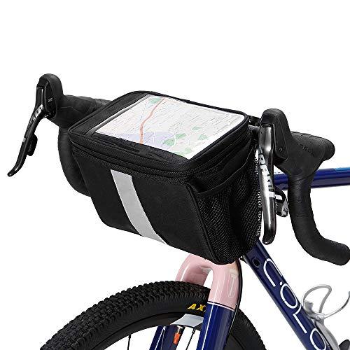 Lixada Bicycle Bags Handlebar Insulated Cooler Bag Cycling MTB Mountain Road Bike Front Basket Pannier Bag (Bike Cooler Basket)