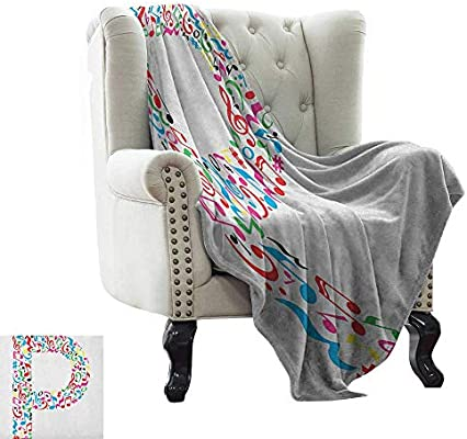 Amazon.com: Letter P,Lightweight Blanket,Notes of Music ...