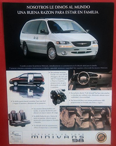 1998 CHRYSLER MINIVANS: VOYAGER, GRAND VOYAGER & TOWN & COUNTRY