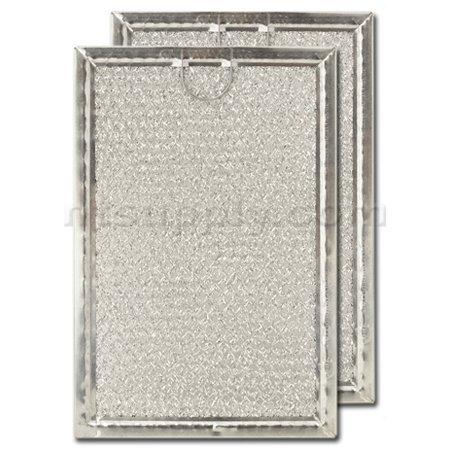 Aluminum Range Hood Filter - 5-1/16 X 7-5/8 X 3/32 Pull Tab, Center - Short Side by American Metal