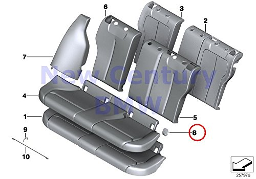 BMW Genuine Rear Seat Safety Belt Cover Isofix Black 228i 228iX M235i M235iX 228i 228iX M235i M235iX 320i 320iX 328d 328dX 328i 328iX 335i 335iX Hybrid 3 320i 320iX 328d 328dX 328i 328iX 330e 340i 340 Genuine Bmw Seat