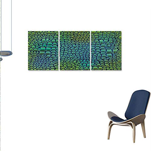 (Abstract Art-Canvas Prints Alligator Skin African Animal Crocodile Reptile Safari Wildlife Vibrant Artwork Modern Wall Art for Living Room Decoration 16