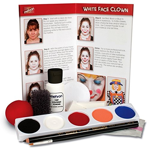 [mehron Character Makeup Kit Clown] (Clown Around Makeup Kit)