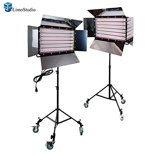 LimoStudio Photography Photo Video Studio 1650W Digital Light Fluorescent 6-Bank Barndoor Light Panel, AGG1613 by LimoStudio