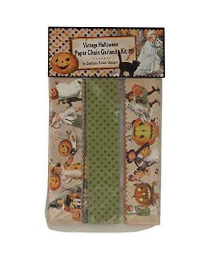 Bethany Lowe Vintage Style Halloween Children Paper Chain Garland Kit