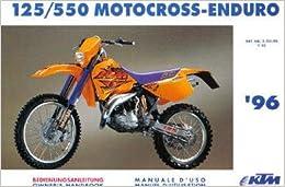 Book 320199 1996 KTM 125 550 Motorcycle Owners Handbook