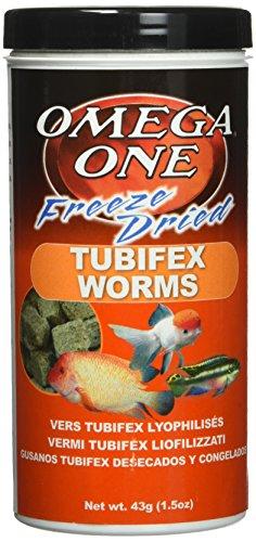 OMEGA One Freeze Dried Tubifex Worm 1.5oz, Yellow
