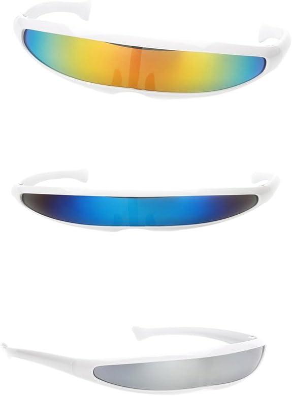 Hellery Gafas De Disfraces Estrechas Futuristas Gafas De Sol con ...