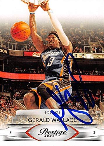 Gerald Wallace autographed Basketball Card (Charlotte Bobcats) 2009 Panini Prestige #9