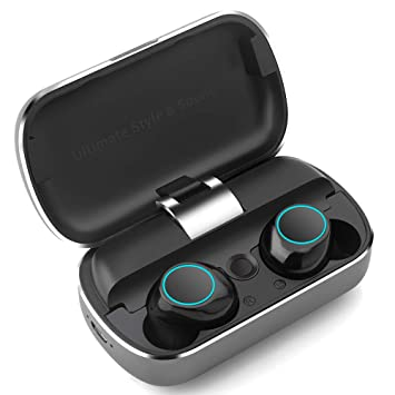 8d4fafc48d9 Auriculares Bluetooth, Auriculares Inalámbricos Deportivos Sonido Estéreo  con Microfono, Audífonos bluetooth resistente al agua IPX5, Mini Auriculares  ...
