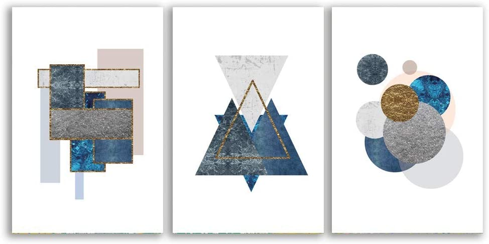 "signwin - 3 Piece Canvas Wall Art - Abstract Geometry - Canvas Prints Home Artwork Decoration for Living Room,Bedroom - 16""x24"" x 3 Panels"