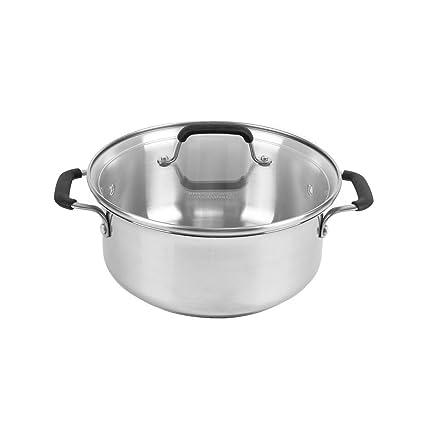 amazon com calphalon kitchen essentials stainless steel 5 qt dutch rh uedata amazon com