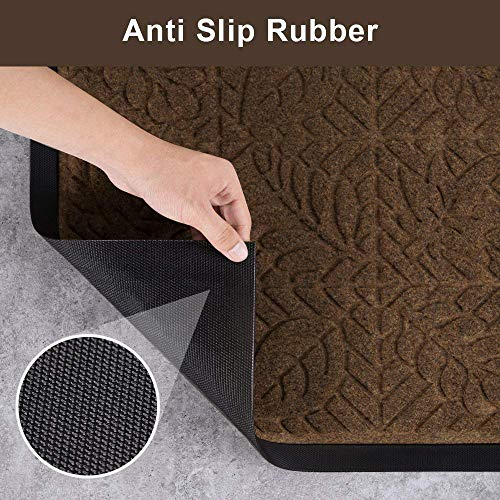 Amagabeli Outdoor Shoes Scraper Doormat For Front Door