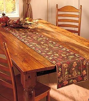 72u0026quot; Harvest Leaves Table Runner