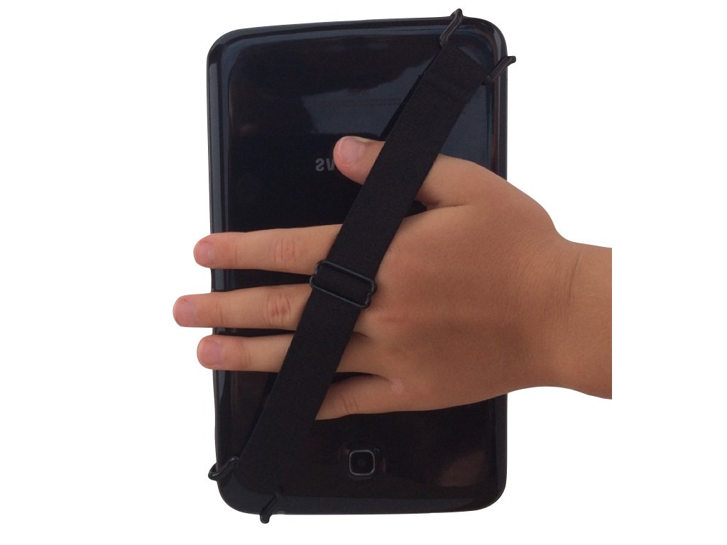 Little Wo: A Fully Adjustable Security Grip Handle with Adjustable Hand Straps for Smartphones, Tablets, E-Readers and Laptops (Xsmall)