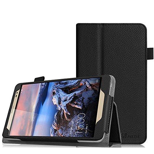 Fintie Huawei MediaPad X2 7.0 Hülle - Slim Fit Kunstleder (Folio) Schutzhülle Tasche Case Cover Standfunktion und Stylus-Halterung für Huawei MediaPad X2 7 Zoll LTE / WiFi Tablet-PC, Schwarz