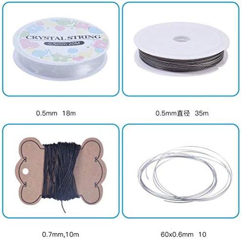 Xinhengchen アクセサリー付きジュエリー修理ツール ツール付きイヤリングアクセサリー 工芸品、ビーズ、ジュエリー製造用1セット(ブロンズ) イヤリング手作りアクセサリー Bronze