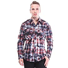 Affliction Men's Back To Life Affliction Button Down Shirt Shirts