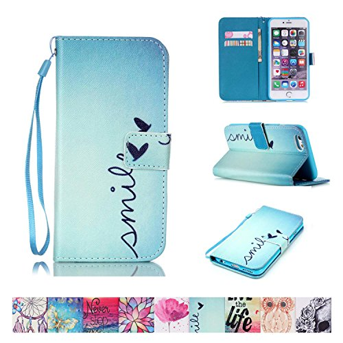 - iPhone 6/6S Case, Firefish Kickstand Flip [Card Slots] Wallet Cover Double Layer Bumper Shell with Magnetic Closure Strap Protective Case for Apple iPhone 6/6S 4.7