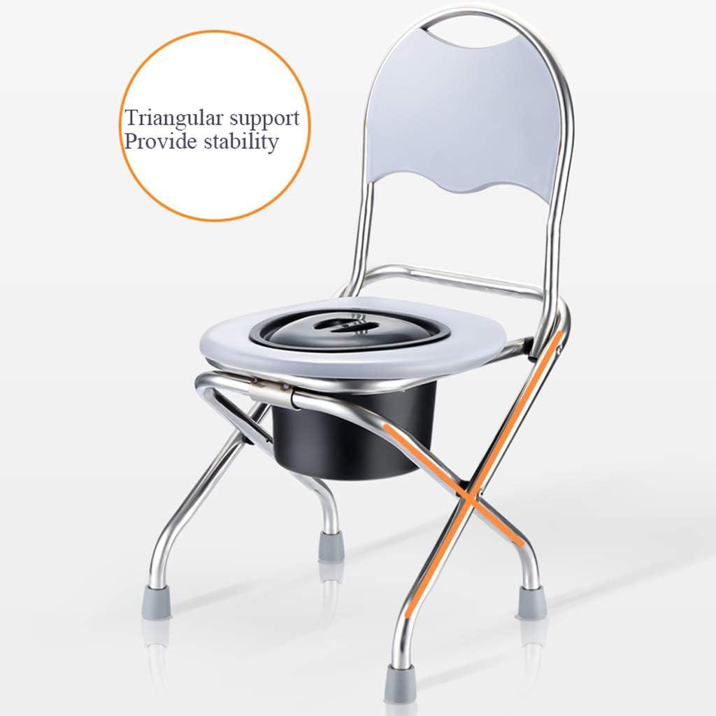 Ckssyao alt Toilet Toilet Foldable, Household Simple Toilet Suitable für Pregnant Women und die Elderly, Stainless Steel Aluminum Alloy,Blue