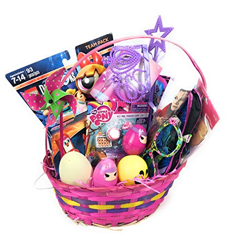 Ultimate Gifts Best Gift Basket for Kids Teens Filled with Toys, Surprise Eggs, Blind Bags (My Lil Pony & Disney -