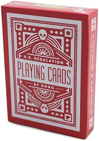 SYNCSPIKE DKNG Red Wheel Playing Cards /& Clear Protective Playing Cards Case