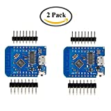 Picture of HiLetgo 2pcs Wemos D1 Mini Development Board ESP8285 V1.0.0 1MB Flash Lite Wireless WiFi Internet Development Board Wemos D1 Mini ESP8285