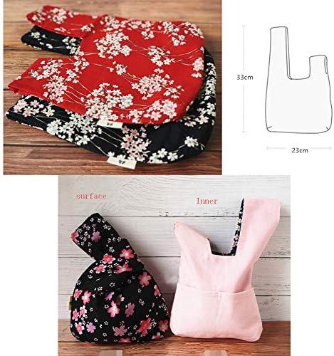 G/én/érique Japonais Kimono Knot Sac Fourre-tout Cartables Portefeuilles Sac De Plage Petit Taille-A04