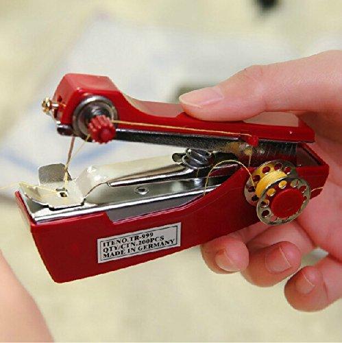Arts, Crafts & Sewing - Honana Wx-T33 Portable Hand-Held Mini Sewing Machine Clothes Fabric Pocket For Diy Needlework Tools - 1PCs