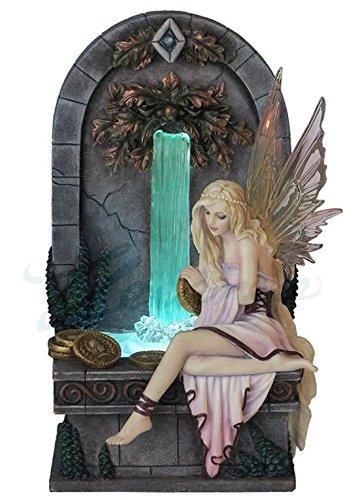 Veronese (ヴェロネーゼ) 硬貨を洗う妖精 噴水 LEDライト セリーナフェネシュ ファンタジー フィギュア B0764D2M7F