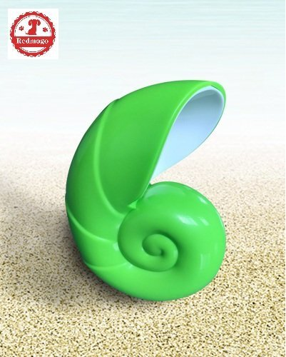 REDMOGO Indoor Ultrasonic Dog Bark Deterrent, Anti-Barking Dog Device for Small Large Dogs Pet Training System Powered by 9V Battery (NOT Included) - Conch Shaped (Green) by REDMOGO