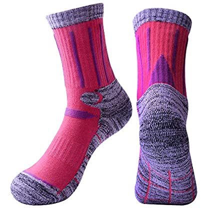 3 Pairs Men Women Hiking Walking Socks - UK Size 2-6.5, Anti Blisters, Soft, Warm, Comfortable, Breathable Nature Cotton… 2