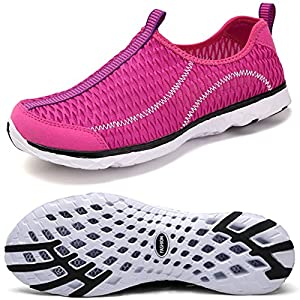 Oberm Womens Mens Water Shoes Quick Drying Slip-on Beach Running Shoes Lightweight Aqua Water Sneakers