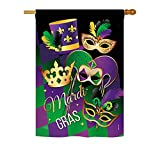 Cheap Ornament Collection – Madi Gras Spring – Seasonal Mardi Gras Impressions Decorative Vertical House Flag 28″ x 40″ Printed In USA