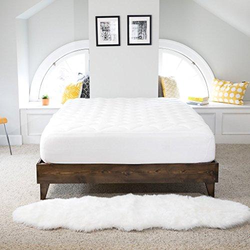 Bamboo Overfilled and Extra Thick 1-Piece Pillow Top Mattress Pad, California King (Mattress Pillow Top Reviews)