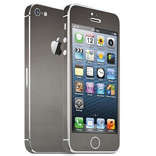 IPHONE 5 SILBER GRAU MATT FOLIE SKIN ZUM AUFKLEBEN bumper case cover schutzhülle i phone