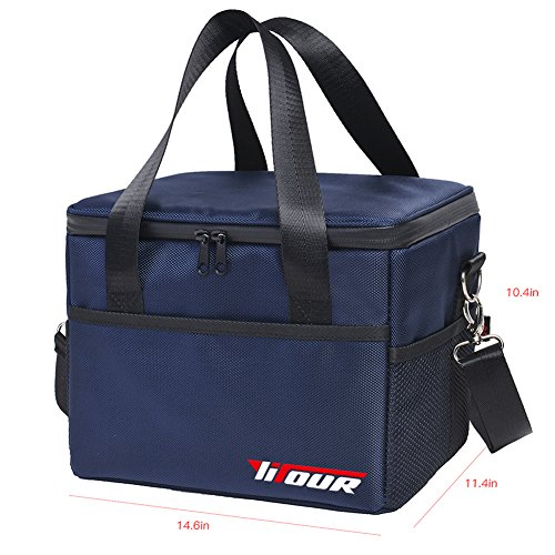 Waterproof Thermal Cooler Insulated Lunch Box Storage (Dark Blue) - 2